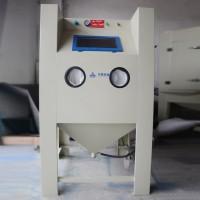 自產自銷小型箱式噴砂機 手套模具去毛刺干式密閉式噴砂機